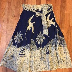 Vintage wrap skirt